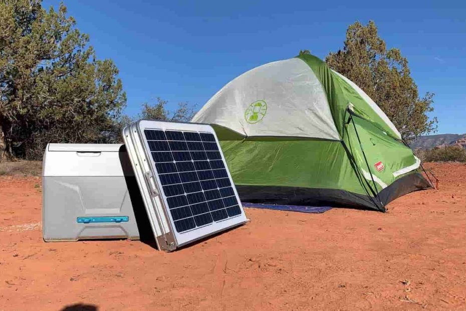 SOLAR COOLER AND A TENT